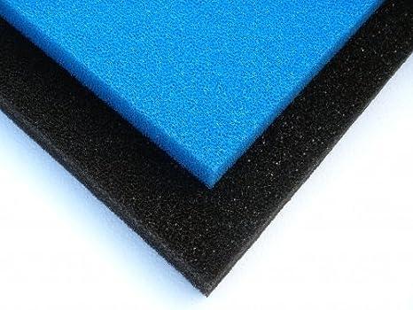 Aqua Envía Acuarios Filtro de Espuma/Filtro Esponja/Filtro Matte - 50 x 50 x 3/5/10 cm Filtro Espuma 10 cm - Gruesa - Azul: Amazon.es: Productos para ...