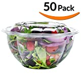 best seller today 50-Pack 32oz Plastic Disposable Salad...