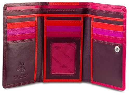visconti-rb43-multi-colored-large-trifold-soft-leather-ladies-wallet-purse-plum