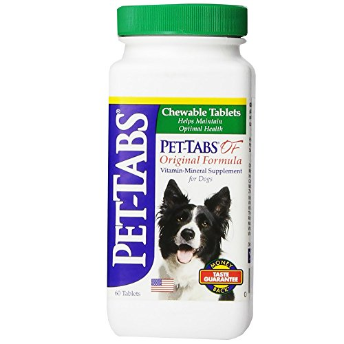 Pet Tabs Original Formula Vitamin Supplement, 60 Count (Pet Virbac Tabs)