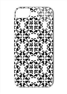 Case Fun Apple iPhone 5 / 5S Case - Vogue Version - 3D Full Wrap - Black Damask