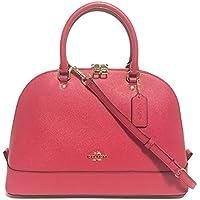Cross Grain Leather Sierra Satchel Crossbody Bag Purse Handbag