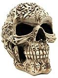 skull cookie jar - 7.5 Inch Spirit Ghost Print Skull Removable Top Desktop Figurine