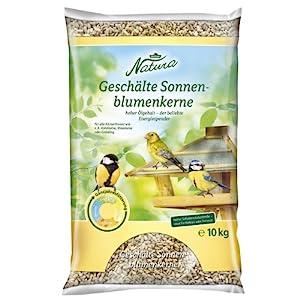 Dehner Natura – Comida para pájaros Silvestres, Semillas de Girasol peladas, 10 kg