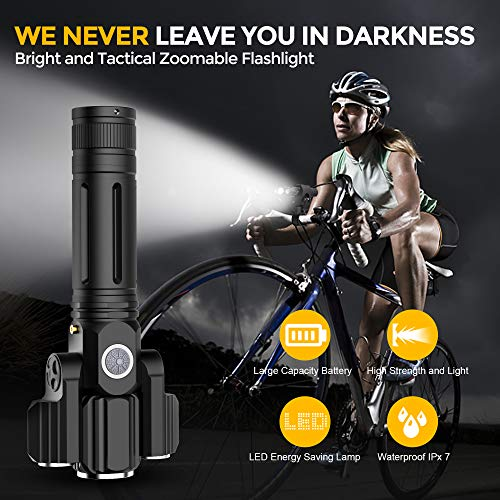 Hours AMAGARM Updated 2019 Version USB Rechargeable Bike Light Set Runtime 10