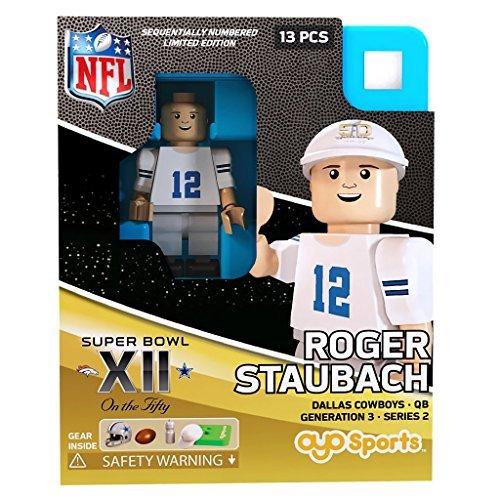 Roger Staubach NFL OYO Dallas Cowboys S.B. XII L.E. of 2,015 Generation 3 Super Bowl 50 Series G3 Mini Figure