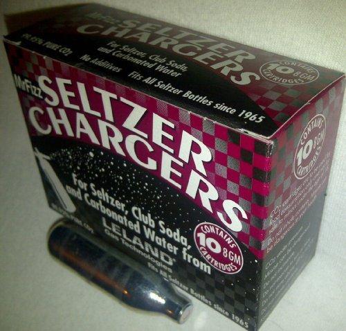 100 ea Leland Soda Chargers Seltzer Chargers CO2