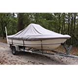 """VORTEX HEAVY DUTY GREY / GRAY CENTER CONSOLE BOAT COVER FOR 18'7"""" - 19'6"""" BOAT (FAST SHIPPING - 1 TO 4 BUSINESS DAY DELIVERY)"""