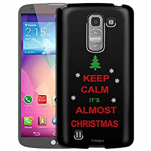 LG G Pro 2 Case, Slim Fit Snap On Cover by Trek KEEP CALM Its Almost Christmas on Black Case