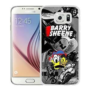 Popular Sale Samsung Galaxy S6,Barry Sheene White Unique Custom Samsung Galaxy S6 Phone Case
