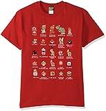 Nintendo Men's Pixel Cast T-Shirt, Red, Small