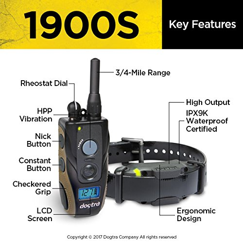 Dogtra 1900S Remote Training Collar - 3/4 Mile Range, Waterproof, Rechargeable, Shock, Vibration - includes PetsTEK Dog Training Clicker by Dogtra (Image #4)