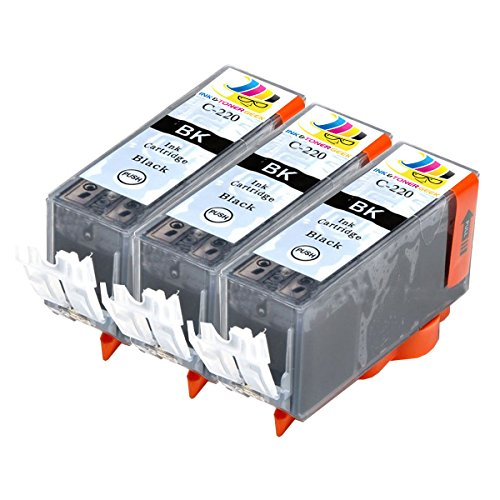 Ink & Toner Geek ® - 3 Pack Compatible Replacement Inkjet Cartridges for Canon PGI-220 Black For Use With Canon PIXMA IP3600 PIXMA IP4600 PIXMA IP4700 PIXMA MP540 PIXMA MP560 PIXMA MP620 PIXMA MP620B PIXMA MP640 PIXMA MP640R PIXMA MP980 PIXMA MP990 PIXMA