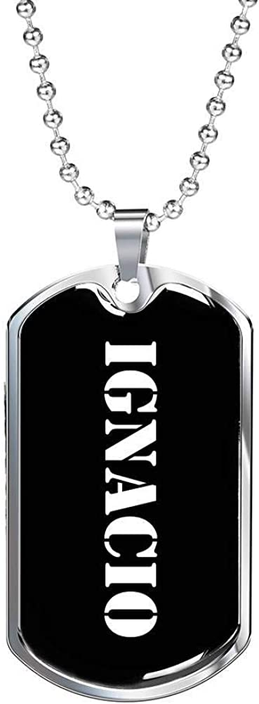 Ignacio v2 Luxury Dog Tag Necklace Personalized Name Gifts