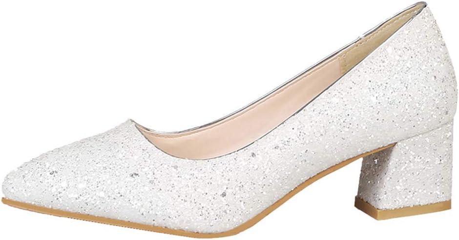 Mary Élégant Chaussures de pour SPDYCESS Jane Escarpins de Mariée Shallow Mariage Femme Mouth Partie Talons Sandales Blanches 5ARL4j