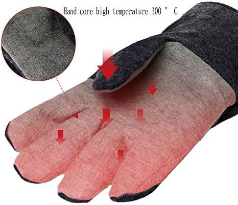 手袋 300度断熱手袋、高温耐性手袋、難燃性、耐熱設計、ホット工業加工に最適/グレー LMMSP