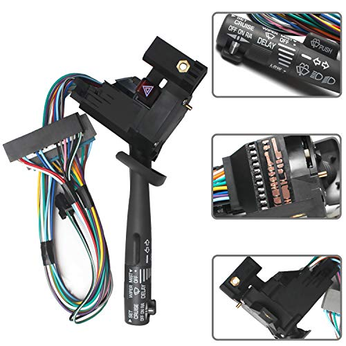 Monrand Turn Signal Switch Replacement for Cadillac Chevy Silverado Tahoe GMC Envoy Sierra Buick Yukon Combination Switch with Cruise Control, Headlamp Dimmer, Hazard Warning, Wiper & Washer Lever
