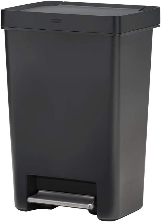 Rubbermaid Premier Series II Step-On for Home and Kitchen, 13 Gallon, Charcoal