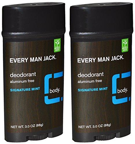 Every Man Jack Aluminum Free Deodorant Signature Mint Pack of 2