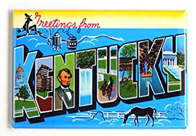 Greetings from Kentucky Fridge Magnet (2 x 3 inches)