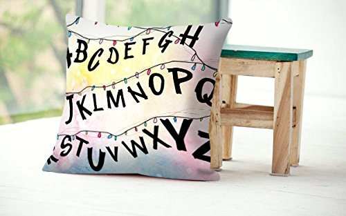 Gloria Yerkes Unique Designed Stranger Things Alphabet Wall Christmas Lights 18x18 inches Pillowcase