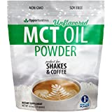 MCT Oil Powder - Delicious Creamer For Coffee, Tea, Smoothie, Recipes - Keto, Ketogenic & Diet Friendly - Powdered For Easy Mixing & Digestion - Energy For Exercise, Workout, or Travel - 6 oz