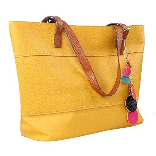 Handbags Pebble Leather Patchwork Handbag