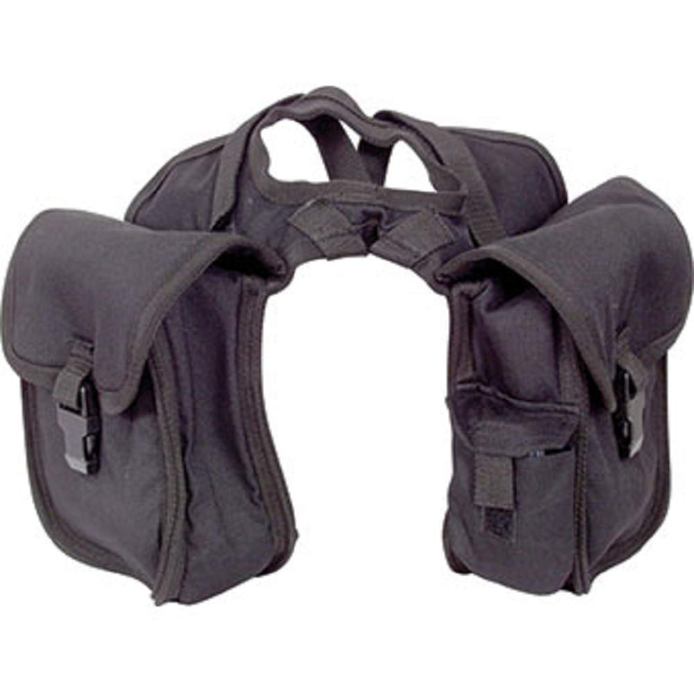 Cashel Quality Deluxe Small Horse Saddle Pommel Horn Bag, Padded Pockets, Camera or Cell Phone Pocket, 600 Denier Material, Size: Small Color: Black