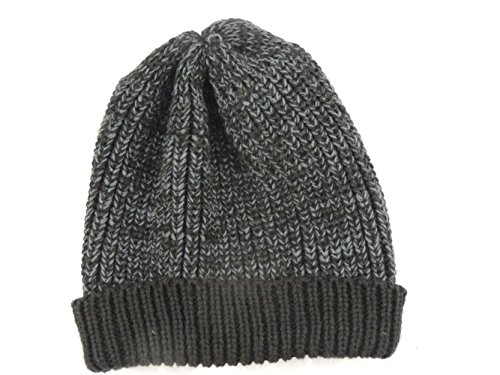 Dorfman Pacific Men's Slouchie Cable Knit Beanie Charcoal (Dorfman Pacific Winter Beanie)