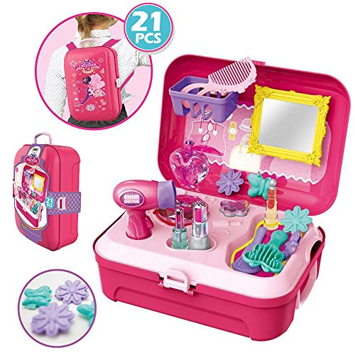 CORPER TOYS 소꿉놀이 화장 놀이 놀이 메이크 세트 메이크업 소녀 프린세스 (서랍이 여러 개 있는 침실용) 옷장 박스