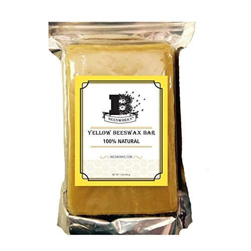 Yellow Beeswax Bar-1LB Block by Beesworks® - Cosmetic Grade