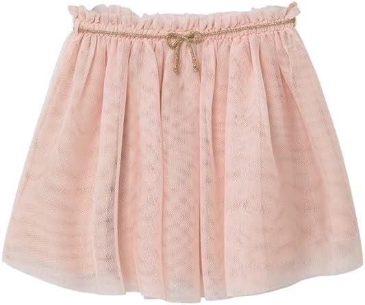 MANGO KIDS - Falda - para niña rosa Rosa Pastel Medium: Amazon.es ...