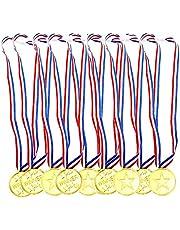 Aweisile Medailles 30 Stks Medailles voor Sport Dag Medailles Winnaar Award Plastic Medailles Gouden met Veiligheidsgesp voor Sport Dag Medailles Party Games Medailles