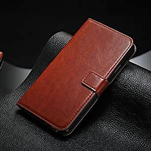 QYF Retro Luxury Leather Wallet Full Body Cases with 2 Card Holders for Samsung Galaxy Note 3 (Assorted Color) , Black