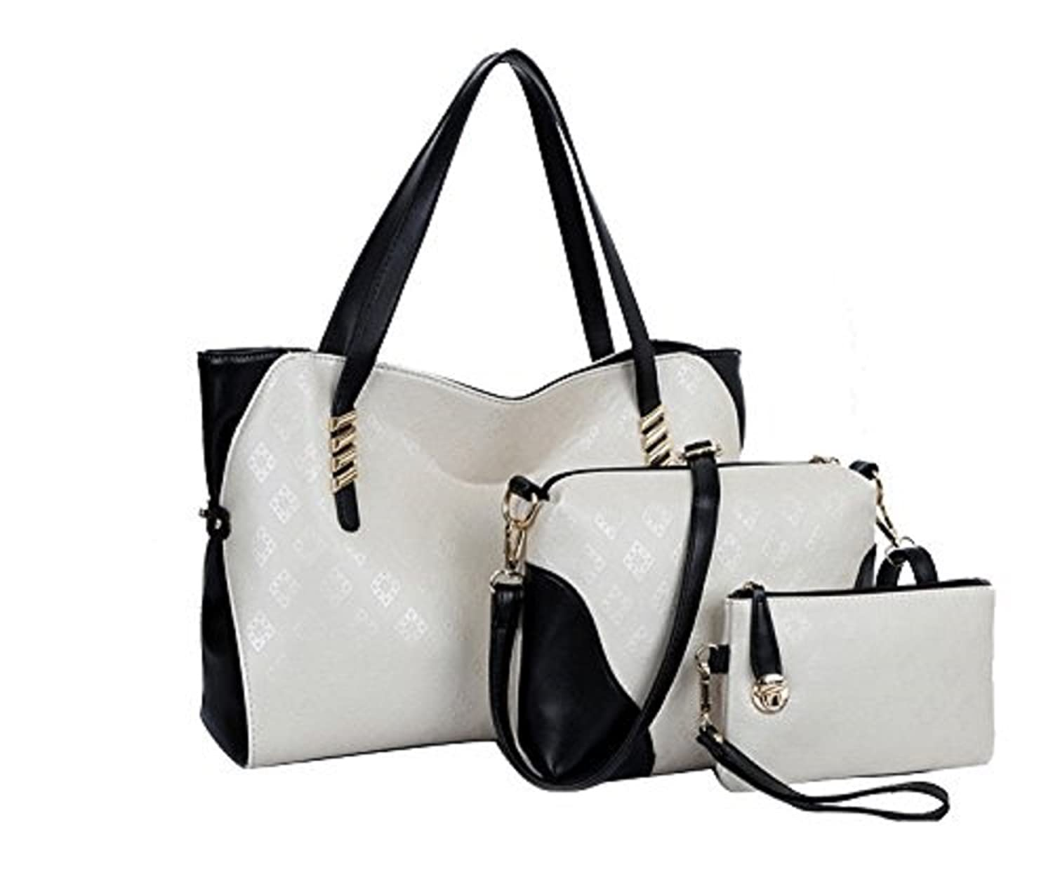 Nice modern and beautiful tote bag top handles bag three pieces in one set--fast delivery in one week