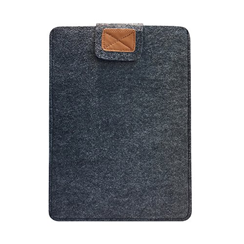RAINYEAR Protective Felt Paperwhite Laptop Sleeve Case 11''-11.6'' Ultra Slim Envelope Felt Sleeve Briefcase Pocket for Macbook/Tablet/Notebook/Computer/Chromebook(Darkgray) by RAINYEAR