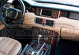 Land Range Rover Mkiii Mk 3 Interior Burl Wood Dash Trim Kit Set 2005 2006 Automotive