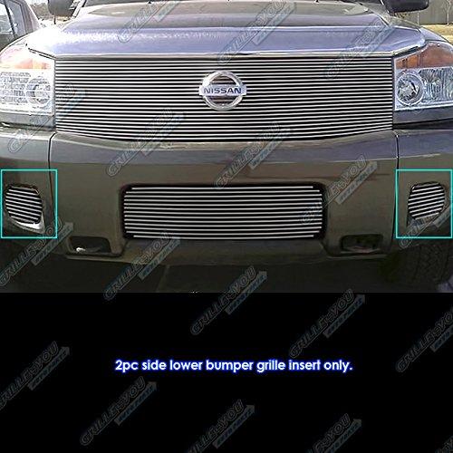 Fits 2008-2011 Nissan Titan/04-07 Armada Fog Light Cover Billet Grille Grill # N65148A