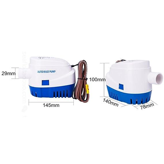 Automático sumergible bomba de agua de sentina con Auto flotador switch-1100gph: Amazon.es: Deportes y aire libre