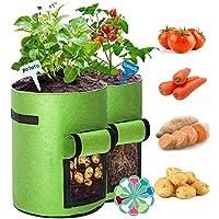 2 Piezas Bolsas de Cultivo de Papa, Bolsa de Cultivo de Plantas, Maceta de Cultivo de Patata, con Ventana para en Jardin…