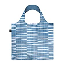 LOQI Reusable Tote Bag, Water Print, Multi-Colored Print, International Carry-on