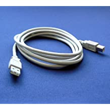 HP LaserJet 1020 Printer Compatible USB 2.0 Cable Cord for PC, Notebook, Macbook - 6 feet White - Bargains Depot®