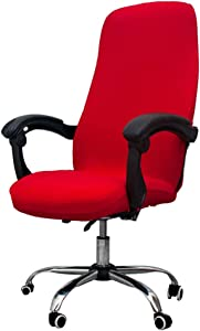 Melaluxe Office Chair Cover - Universal Stretch Desk Chair Cover, Computer Chair Slipcovers (Size: L) - Red