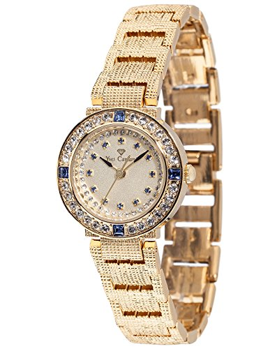 Yves Camani Lady Sapphire L-31051GP-S Ladies Watch Quartz Analogue Beige Dial Golden Steel Strap