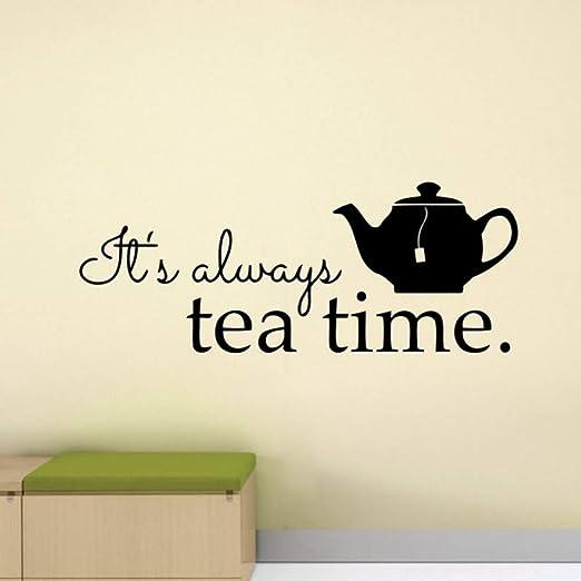 bdpq_ Es siempre la hora del té Adhesivo de pared Alicia en ...