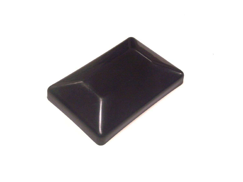 200 PACK-Fence Post Plastic Black Cap 4x6 (3 5/8'' X 5 5/8'') Pressure Treated Posts