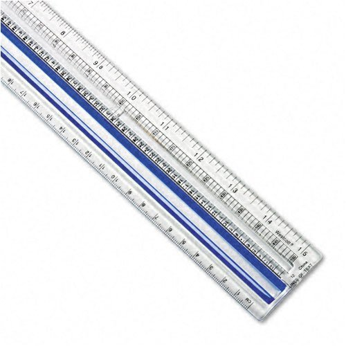 Westcott : Data Processing Magnifying Plastic Ruler, 15