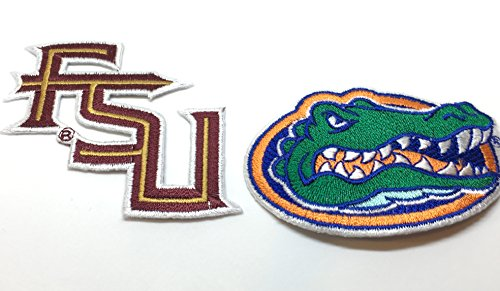 - House Divided Set of 2 Embroidered Iron on patches. FSU Seminoles, Florida