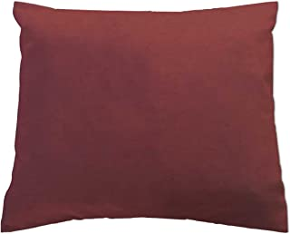 product image for SheetWorld - Baby Pillow Case - Percale Pillow Case - Deep Solids - Burgundy - Made In USA