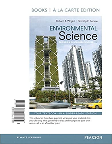 Environmental Science Toward A Sustainable Future Books A